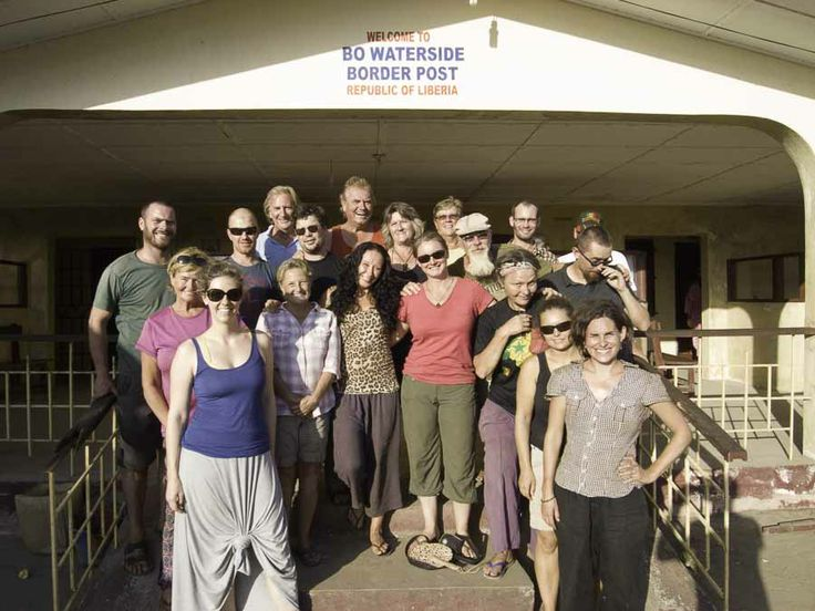 The first ever #Overland truck based company to run a trip in #Liberia here is a shot of the group as they crossed the border from #SierraLeone happy days! So pleased to add #Liberia to the list of countries we visit after being the first overland truck company to run trips in #GuineaBissau and #SierraLeone in 2012!