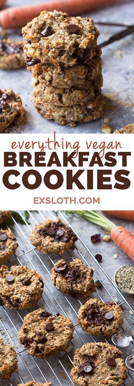 Everything vegan breakfast cookies