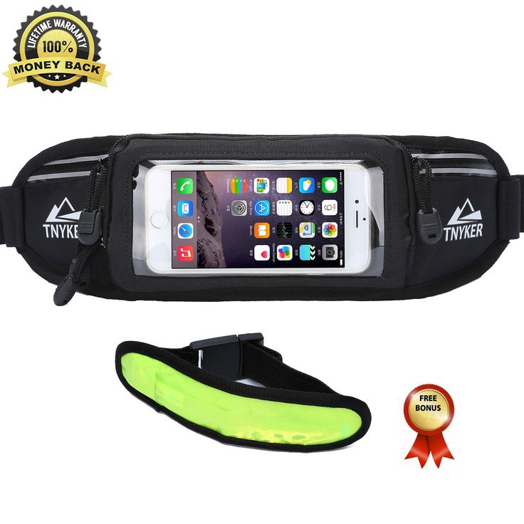 Running Belt - #1 Premium Running Fuel Treadmill Fitness Workout Belt For iPhone 6S / 6 Plus & Android Smartphones - Touchscreen Compatible - Best Waist Pack For Men&Women & Free LED Safety Armband. BEST VALUE PACK WITH FREE BONUS GIFTS: LED safety armband (VALUE $9.95) for a more enjoyable running experience. The latest technology for nighttime safety.Three Modes:solid,fast and slow flash.Use on your arm wrist,ankle or attached to running belt. TOUCH SCREEN COMPATIBLE & PHONE HOLDER…