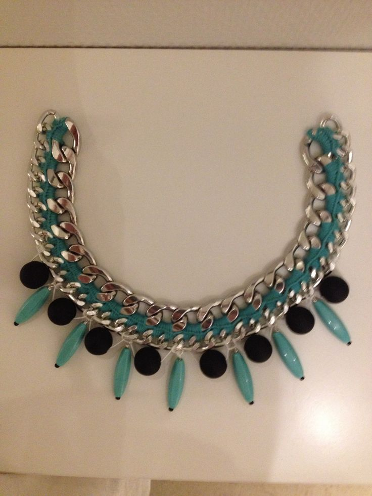 Statement necklace! <3 #chain #beads #spikes #crochet Made by Me