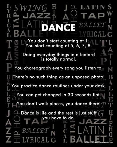 Dance Poster - gifts for dancers