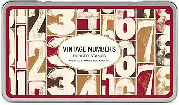 Cavallini Vintage Numbers Rubber Stamp Set