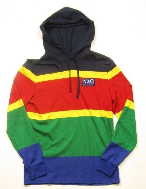 81a18a3dd89fa Polo Ralph Lauren Men s Hi Tech Colorblocked Striped Classic Fit Pullover  Hoodie  fashion  clothing
