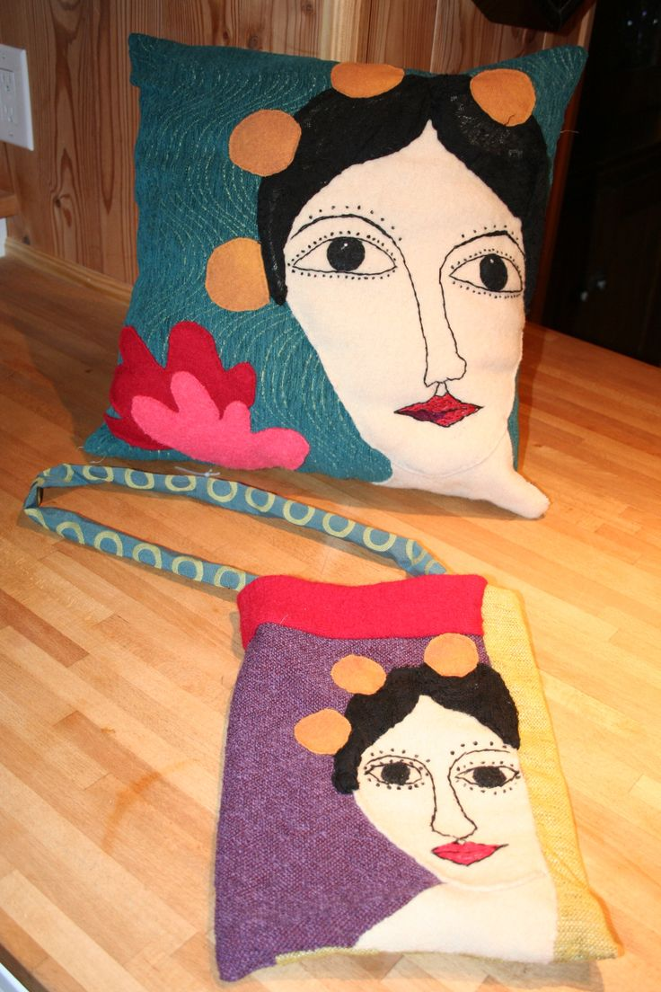 Freda Pillow and Purse