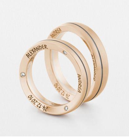 Обручальные кольца из розового золота