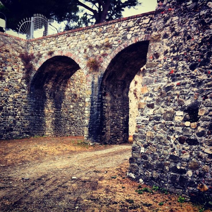 fossato della Fortezza Firmafede (Cittadella) a Sarzana Italy