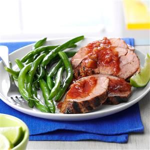 Grilled Pork with Spicy Pineapple Salsa Recipe