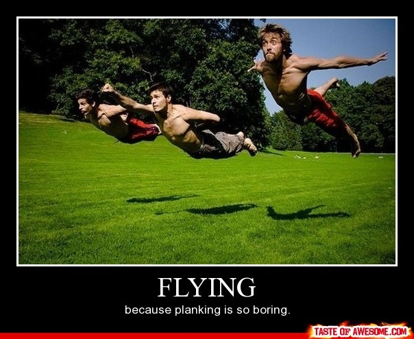 bahaha... though landing would be pretty tough: Picture, Photos, Flying, Planking, Awesome, Funny Stuff, Funnies, Photography Ideas