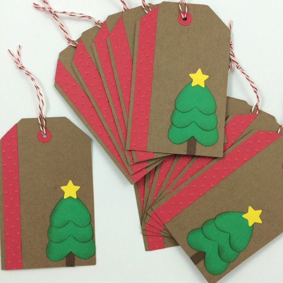 Holiday Christmas Gift Tags - Set of 12 (BumpOfKnowledge @ Etsy)
