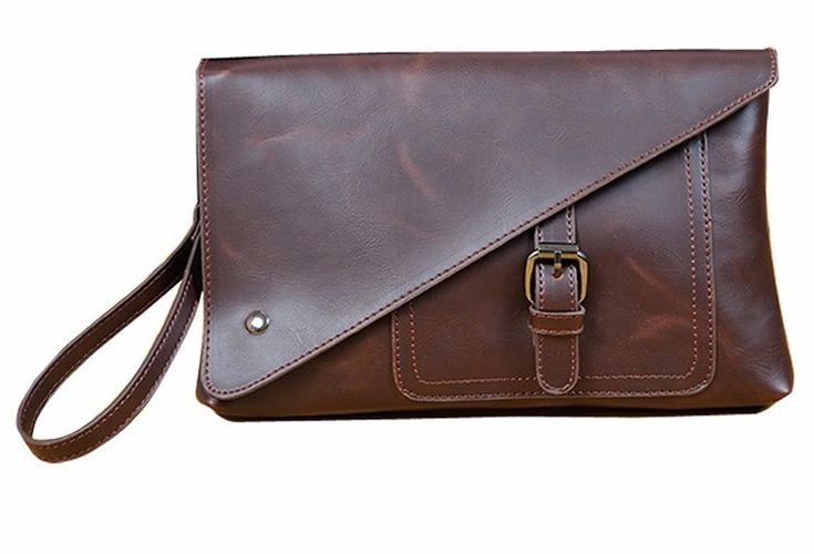 Russian friends buy precautions: Russian postal regulations require the full name of the consignee name, consisting of three parts. So, please tell me your full name, thank you!  Fashion casual men evening clutch bags Crazy horse leather briefc...