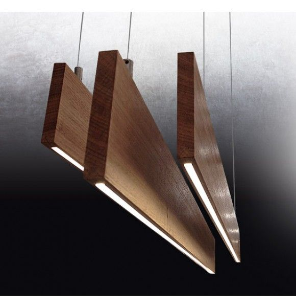 Lighting Design Wood Pendant Light With Micro LED Commercial 2BY4