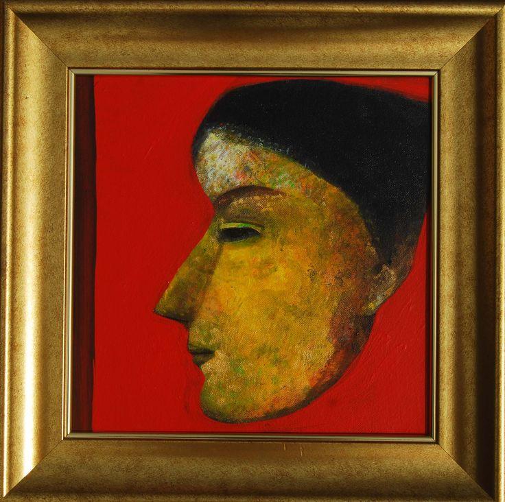 Tapas Ghosal Profile III Acrylic on Canvas Paintings