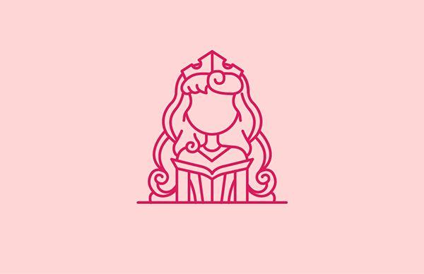 Personagens da Disney em belas ilustrações iconográficas