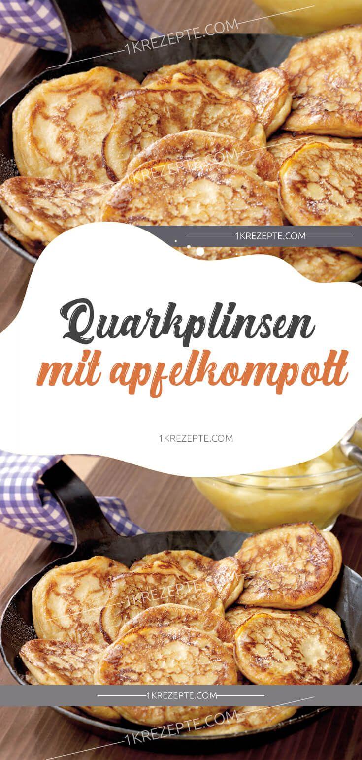 Quarkplinsen mit Apfelkompott