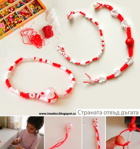 Martenitsas - macrame  Baba Marta sounds like a great spring holiday!  Definitely google it if you've never heard of it!