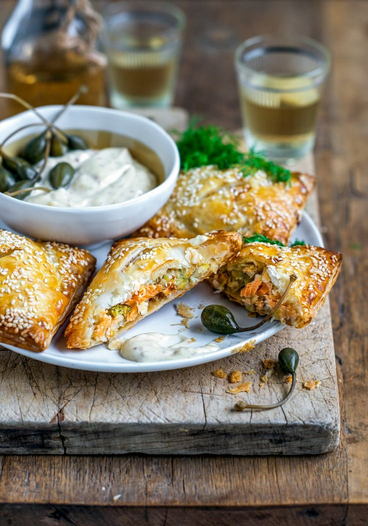 From The Kitchen: Hot smoked salmon & leek pies with aioli