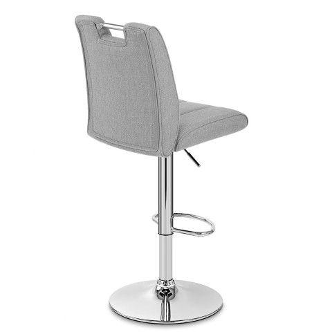 Loco Bar Stool Grey Fabric Furniture Stools