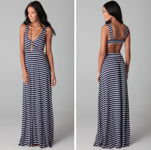 loveeee: Long Dresses, Summer Dresses, Maxi Dresses, Beaches Dresses, Cutout Dress, Stripes Maxi, Navy Blue, Cut Outs, White Stripes