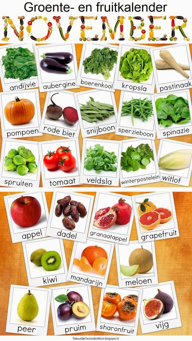 groente en fruitkalender milieu centraal - Google zoeken