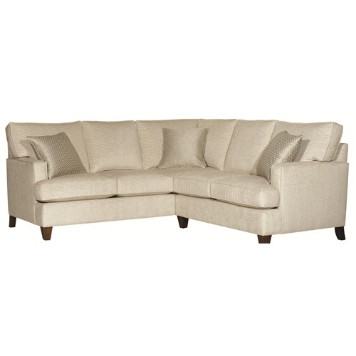 Park Avenue Contemporary Styled 2 Piece Sectional By HGTV Home Furniture Collection