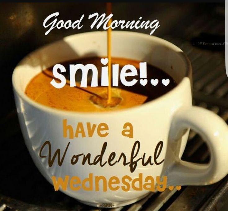 Good morning world ... have a wonderful Wednesday