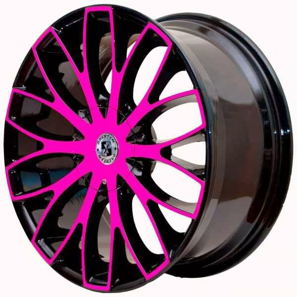 Pink Black and Chrome Rims | By : Automotive News & Super Modified Sports Cars