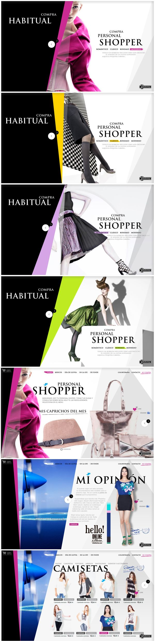 """Fashion web graphic design. Layout, e-commerce."""