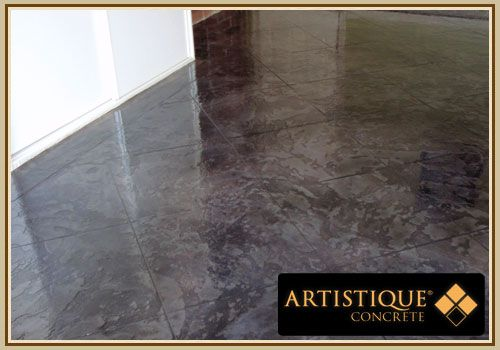 Acid Stained Texture Overlay Internal Polished Concrete