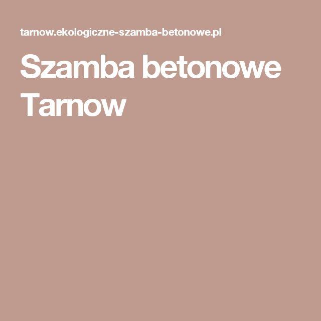 Szamba betonowe Tarnow