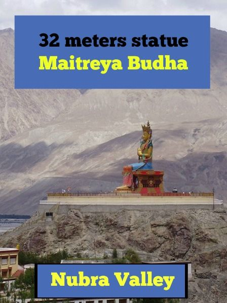 This impressive 32 meters statue on top of a hill below the monastery faces the Shyok River towards Pakistan. Most of the money for construction came from local donations. The Head of the Gelugpa, Ganden Thipa, who is the reincarnation of Tsongkhapa and Abbott of Rizu Monastery gave 8 kg of gold for its decoration. More: http://www.pathismygoal.com/diskit-monastery-maitreya-buddha-and-way-back-to-leh/