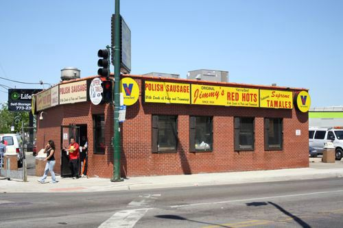Jimmy S Hot Dogs Chicago Grand And Pulaski