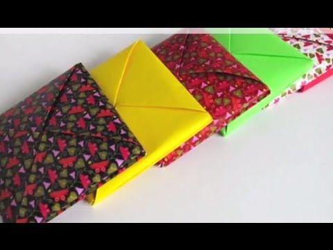Конверт с сюрпризом оригами - YouTube