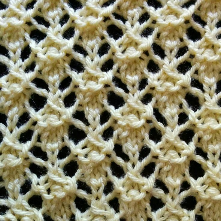 The Intricate Lattice stitch works great on many types of projects such as shawls, scarves, bags and more! Knit it today!