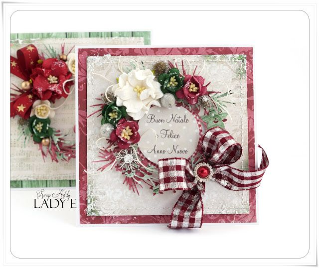 Scrap Art by Lady E: 2 Christmas Cards with Wreaths - Wild Orchid Crafts DT