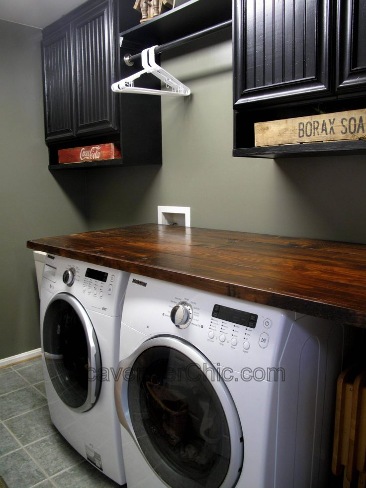 Diy Wood Countertop Laundry Room Pinterest Cabinets