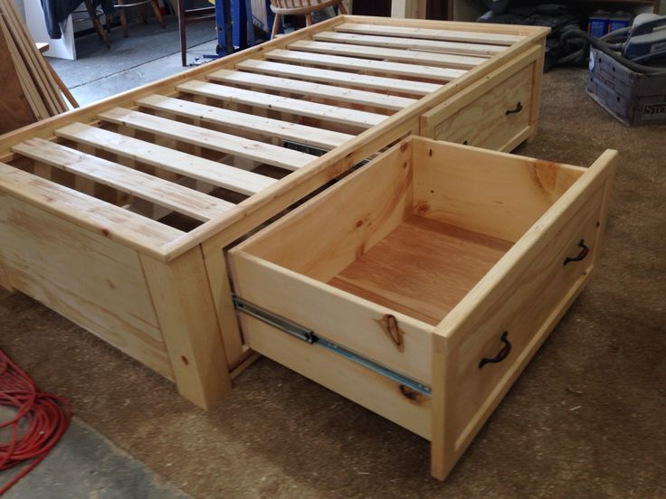 twin storage bed with full extension drawers - Twin Storage Bed Frame