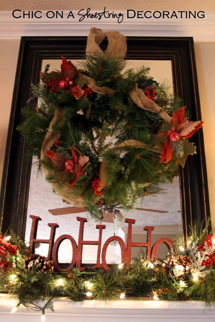 Country christmas mantel decor - Rustic Christmas Fireplace Mantel Holiday Designs Decorating Ideas Hgtv Rate My Space