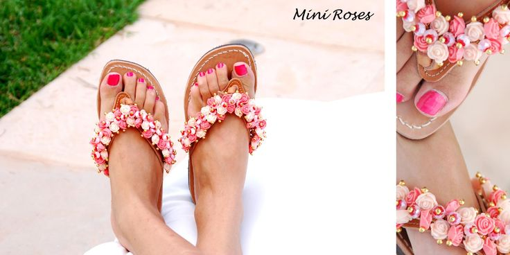 Mini Roses Flip-flop! For romantic souls that like the pink cloud! Bonbon Sandals