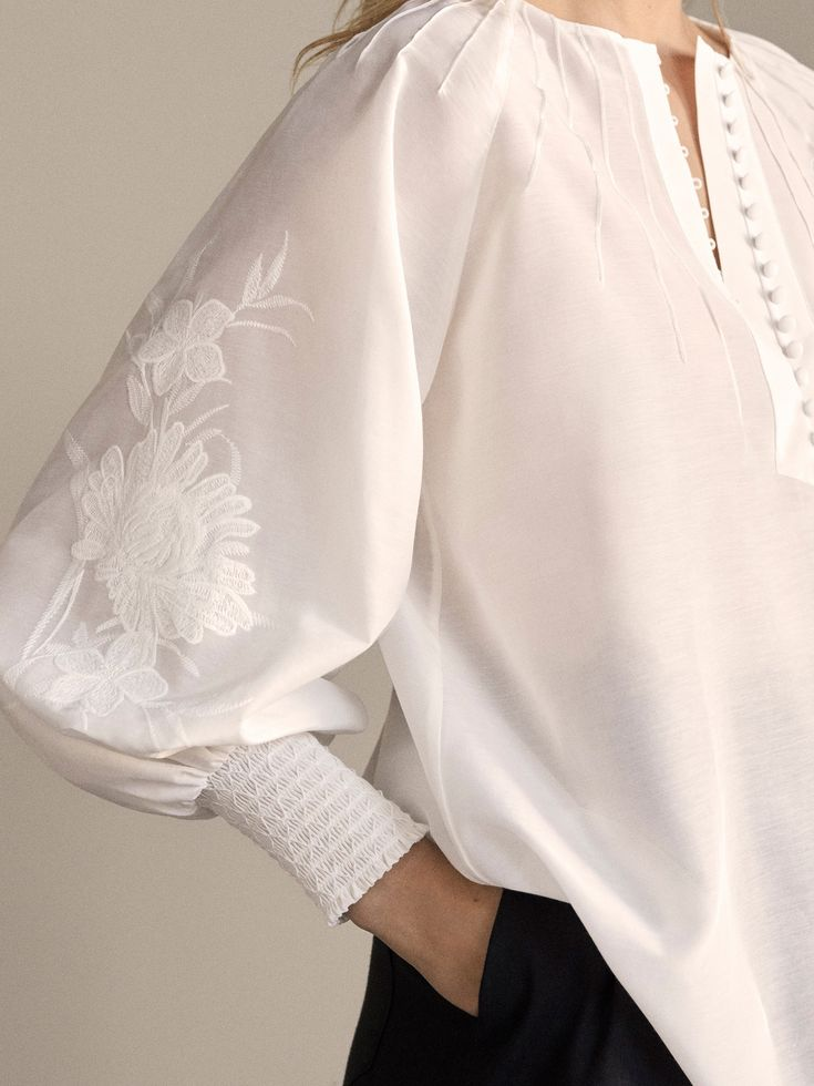 Embroidered cotton blouse 3