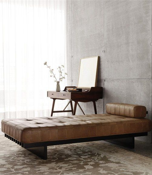 Leather day bed DS-80 by de Sede interiors