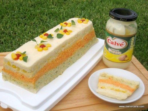Pastel de pan y atún de colores | Ana en la cocina