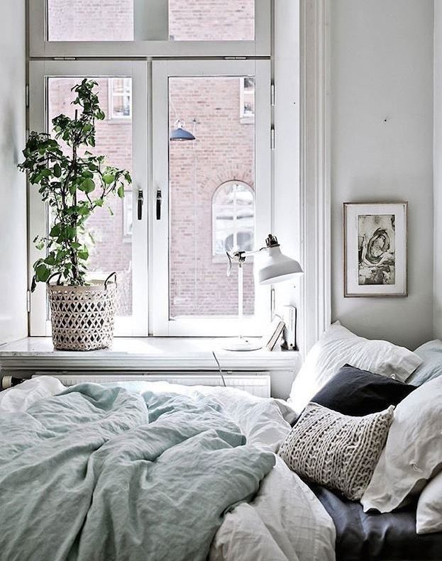 love this calming color scheme for a bedroom