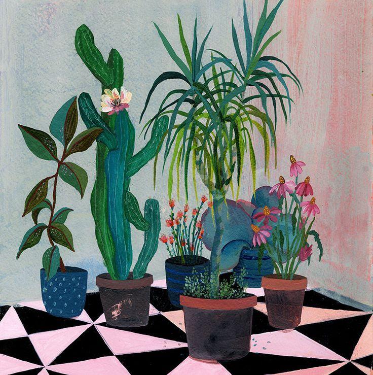 Laura Garcia Serventi on The Art Folk - affordable plant illustrations