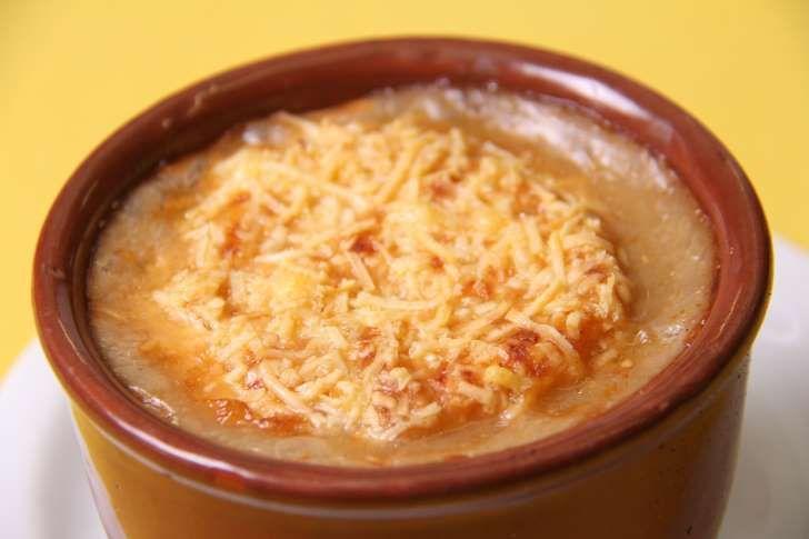 A famosa sopa de cebola gratinada do Festival Ceagesp