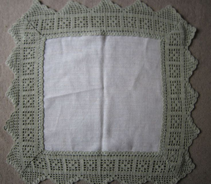 VINTAGE SMALL TABLECLOTH LACE  SQUARE LINEN TABLE DRESSING #DOILY #HOME