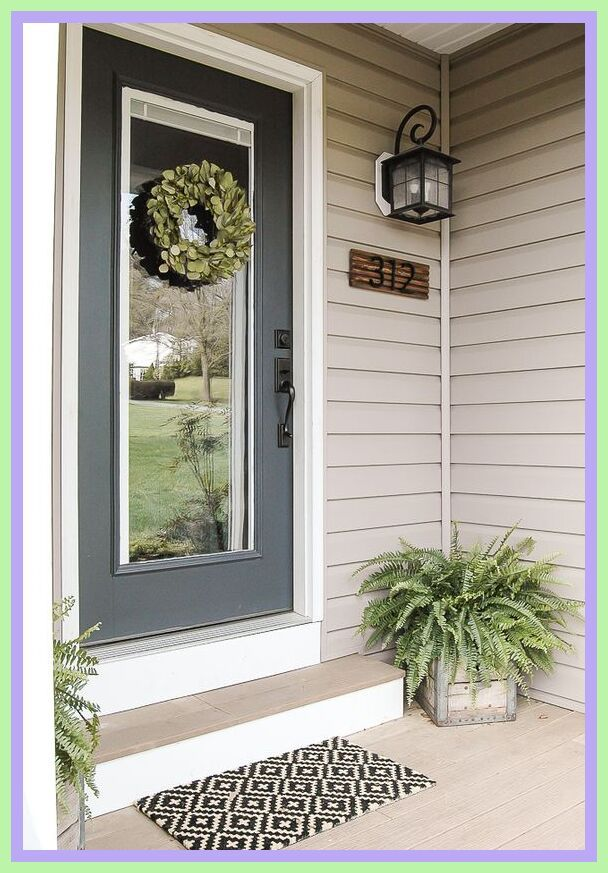 108 Reference Of Indoor Front Door Decor In 2020 Front Door Decor Modern House Numbers Sign Front Door