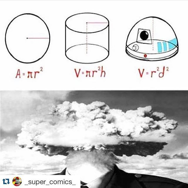 #Repost @_super_comics_ with @repostapp. ・・・ I'll give you a second to pick up your scattered brain pieces.⏲:blush: #TeamSuperComics -Spidey :spider:  #mindblown #r2d2 #formulas #math #whaaat #bruh #cylinder #circle #dome #semicircle #volume #area #mybrai