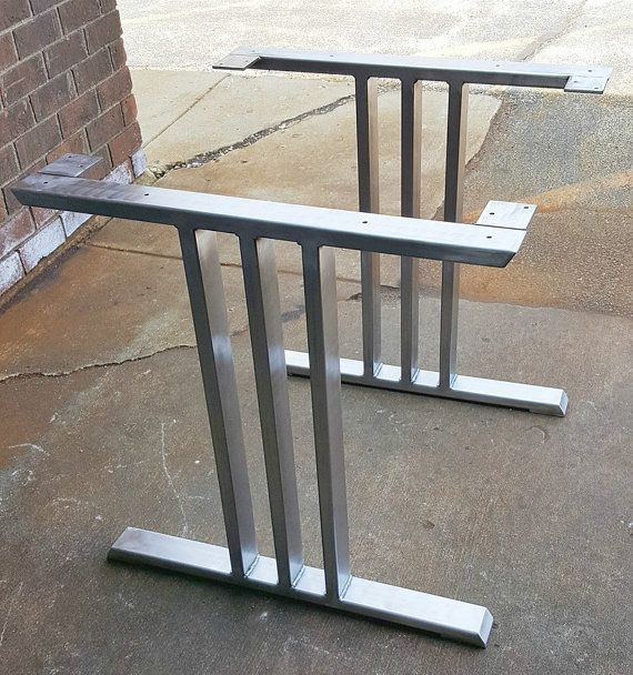 Design Dining Table Legs Industrial Legs Set by MetalAndWoodDesign