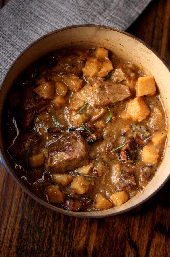 Pork Stew w/ Hard Cider, Parsnips & Pancetta / Feed Me Phoebe