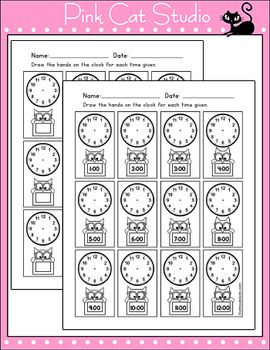 Smarty Pants Owls Theme Clock Labels and Student Worksheets